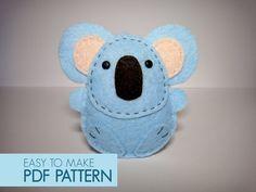 koala finger puppet pattern - animal habitats australian