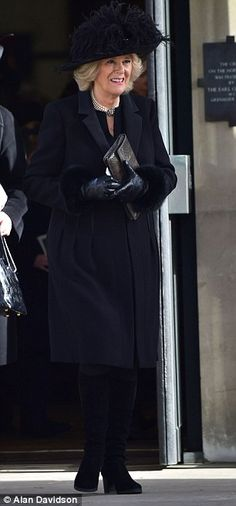 John George Vanderbilt Henry Spencer-Churchill, 11th Duke of Marlborough | The Duchess of Cornwall, wife of Prince Charles, attend the Service of Thanksgiving in honor of the 11th Duke of Marlborough.