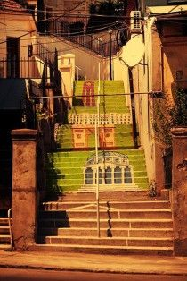 Painted steps in Bucharest, Roménia Painted Steps, Places Worth Visiting, Bucharest Romania, Take The Stairs, Stairway To Heaven, Step By Step Painting, Creative Photos, Stairways, Wonders Of The World