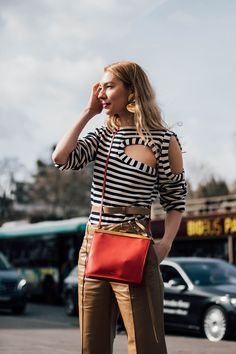 Modern twist on classic Leather, Stripes, Red and Gold. Photo: Jonathan Daniel Pryce