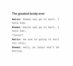 Aelin and Rowan in Heir or Fire. Now they are OTP
