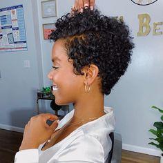 Natural Hair Short Cuts, Tapered Natural Hair, Natural Hair Styles For Black Women, Curly Hair Cuts, Short Hair Cuts, Curly Hair Styles, Hair Curt, Short Curly Haircuts, Big Chop Hairstyles