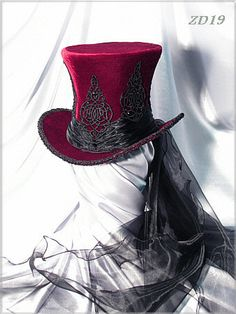Steam up your Halloween with these steampunk costume ideas for women and men. You can either play it safe and pick a complete costume like our favorites below, Steampunk Hut, Steampunk Top Hat, Steampunk Clothing, Steampunk Fashion, Gothic Fashion, Steampunk Wedding, Victorian Fashion, Fashion Fashion, Vintage Fashion