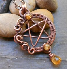 Pentacle Pendant Pagan Wiccan New Age by NewMoonEmporium on Etsy, $36.00