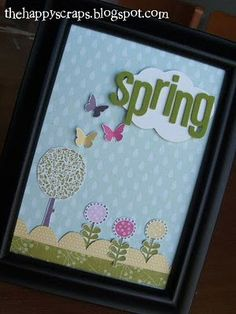 Framed Spring decor #thehappyscraps