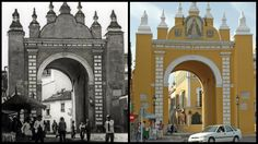 Puerta de la Macarena. Evolución de su fachada frontal.