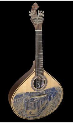 Antonio Carvalho Fado Guitar - has the Metro de Lisboa ever looked nicer?