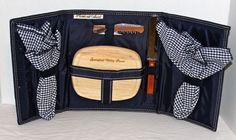 Picnic at Ascot Accessory Set Cutting Board Spreader 2 Napkins Wine Cork Blue #PicnicatAscot