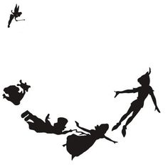 Peter Pan Silhouette Decal Peter pan, tinker bell and