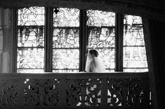 My Dad and I coming down the stairs at Ochre Court. Or, 'just breathe' Photo from Amanda & Mike: Newport Wedding collection by AE Stelzer Photography