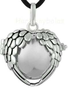 silver harmony ball pendant necklace, it makes nice chime sounds to relax baby/relieve anxiety during pregnancy