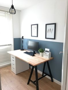 So make sure you design your home office exactly how you want from the perfect colors. See more ideas about Desk, Home office decor and Home Office Ideas. decor workplace 20 Home Office Ideas (Modern Style and Comfortable) - Pandriva