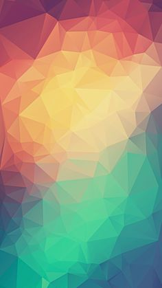 Colorful Low Poly Triangles iPhone 6+ HD Wallpaper