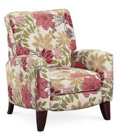 $600A bold floral pattern awash in pink and red...on a recliner? Yes, and it works wonderfully on this neat but not-too-sweet seat. Fritz hi-leg recliner in 6057-41 fabric, Lane Furniture; lanefurniture.com for stores.   - GoodHousekeeping.com