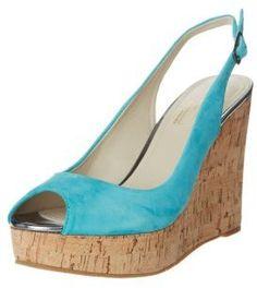 Giordano Mario Wedge sandals turquoise on shopstyle.co.uk