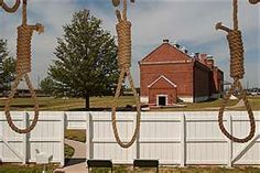 the gallows at the Hanging Judge Parker's Courthouse in Ft. Smith Ark