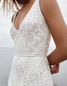 V Neck Wedding Dress, Dream Wedding Dresses, Prom Dresses, Wedding Dresses With Straps, Bride Dresses, Summer Dresses, Formal Dresses, Boho Dress, Lace Dress