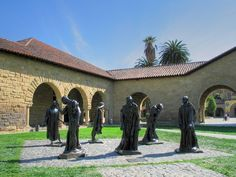 rodin's magnificent burghers of calais sculptures at stanford university Cambridge University, Stanford University, Stanford Gsb, Pembroke College, Circus Maximus, Economic Systems, Alma Mater, Travel Inspiration, The Neighbourhood