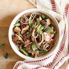 awesome Soba Noodle Salad with Pork, Snap Peas, and Radishes Recipe