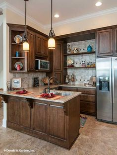 Basement kitchen from The Jasper Hill 5020. #WeDesignDreams