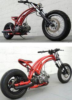 moon scooter - by Nathan allen / Design Awards Custom Moped, Custom Motorcycles, Custom Bikes, Cars And Motorcycles, Easy Rider, Moto Bike, Motorcycle Bike, Mini Bici, Motorised Bike