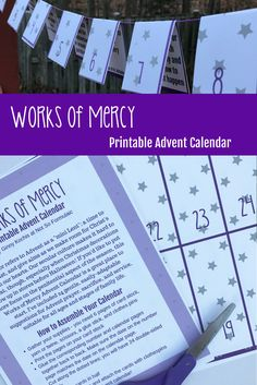 Try this Works of Mercy Printable Advent Calendar with 24 gentle easily-adaptable suggestions for Advent prayer sacrifice and service suitable for all ages and stages of family life. Advent Calendar Christian, Adult Advent Calendar, Advent Calendar Activities, Advent Calendar Ideas For Adults, Advent Calendars, Advent Catholic, Catholic Kids, Catholic Blogs, Catholic Homeschooling