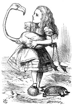 Sir John Tenniel's Classic Illustrations of Alice's Adventures in Wonderland John Tenniel, Alice In Wonderland Illustrations, Alice In Wonderland Book, Adventures In Wonderland, Alice In Wonderland Flamingo, Lewis Carroll, Cat Coloring Page, Coloring Pages To Print, Coloring Books