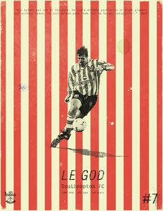 Famous Footballers on Behance - Le Tissier Southampton Football, Southampton Fc, Football Design, Retro Football, Ipad Air, Premier Football, England Players, Sports Advertising, Workout Videos For Women