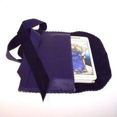Purple Leather Tarot Bag Smooth