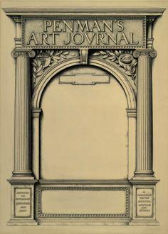 Penman's Art Journal cover artwork :: Zaner-Bloser Penmanship