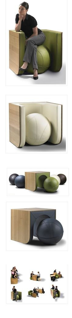Let's fill the Library common area with these!  How fun would that be!  SwiTCh is a New Design Furniture created by Ellen Ectors and made by Ellesco...completely handmade.