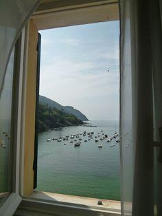 "Panorama, Camera di ""Hotel Miramare Sestri Levante"", Sestri Levante Liguria Italia (Luglio) Sestri Levante, Hotel, Airplane View"