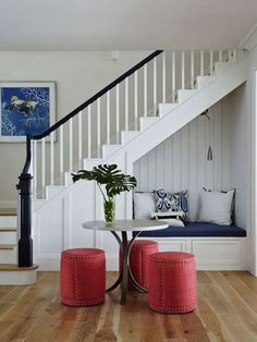 20 Incredibly cozy book nooks you may never want to leave! 20 Incredibly cozy book nooks you may never want to leave! Home Stairs Design, Home Interior Design, House Design, Interior Design Under Stairs, Stair Design, Staircase Storage, Stair Storage, Basement Stairs, House Stairs