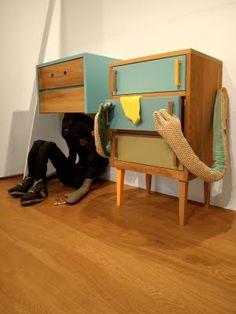 Puff and Flock: Stuart Melrose + Puff & Flock = playful furniture creatures