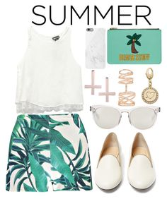 """""""Summer Staples"""" by joslynaurora ❤ liked on Polyvore featuring Boohoo, Wet Seal, Charlotte Olympia, Dolce&Gabbana, Emma Lomax, Native Union, Kora, Repossi and Kate Spade"""