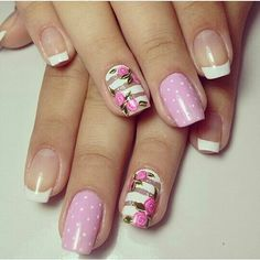 From general topics to more of what you would expect to find here, nail-art-stickers. Cat Nail Art, Pink Nail Art, Nail Art Diy, Cat Nails, Pink Nails, Basic Nails, Simple Nails, Hello Nails, Uñas Diy