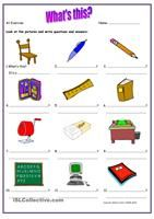 This downloadable worksheet is for beginner level and kindergarten students. kids who are just learning to write should find it useful to practice writing and to identify some classroom commands. - ESL worksheets