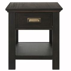 Gilford Side Table with Drawer - Threshold, Black