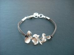 Extra 10 Off  orchid flowers bracelet by Lana0Crystal on Etsy, $20.00