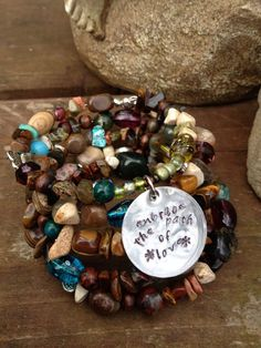 Embrace the Path of Love five wrap memory wire by DFInspirations, $40.00