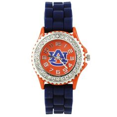 $11.50 Auburn University Jelly Watch with Crystal Surround