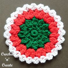Get in the festive mood with these Christmas coasters, make a set of 6 and decorate the table for your guests, you could always add a ch loop and ......