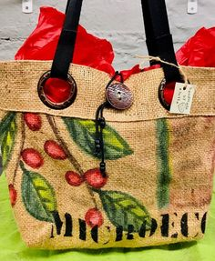 #recycled - Twitter Search / Twitter Coffee Bean Sacks, Burlap Tote, Custom Tote Bags, Straw Bag, Upcycle, Reusable Tote Bags, Hand Painted, Handmade, Fresh