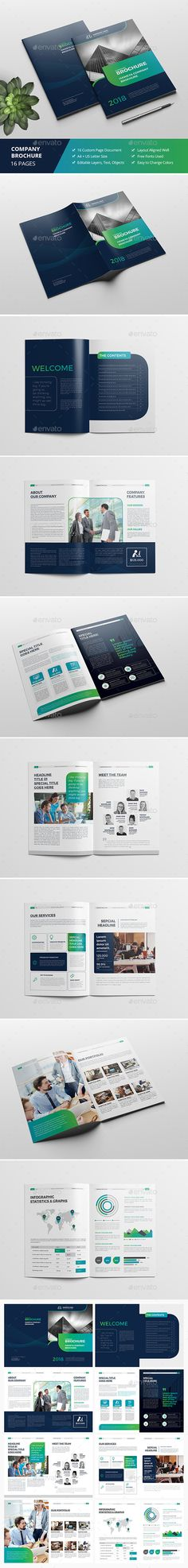 Haweya Company Brochure Template InDesign INDD. Download here: https://graphicriver.net/item/haweya-company-brochure-v02/17310817?ref=ksioks