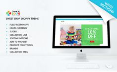 Collection of Top 15 Shopify Themes for Your Future Store – Creative Beacon – Trend Free Web Design, Free Website Templates, Web Design Projects, Graphic Design Tips, Online Trading, Lettering Tutorial, Brand Collection, Drupal, Kids Store