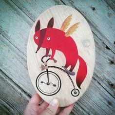 Lapinas ant dviračio / Foxy on the bike :)