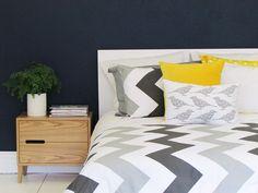 WOW - modern chevron design duvet cover sets from Luxury Linen