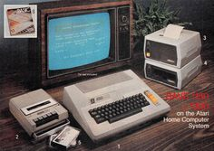 From the 1980 J.C. Penney Christmas Catalog. Featured here is the Atari 800.