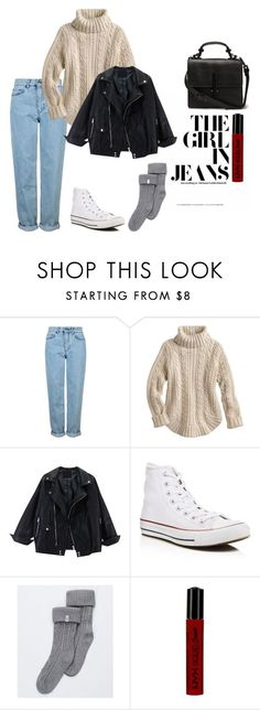 Noora Amalie Sætre by atlasren ❤ liked on Polyvore featuring Topshop, Converse, UGG, NYX and skam