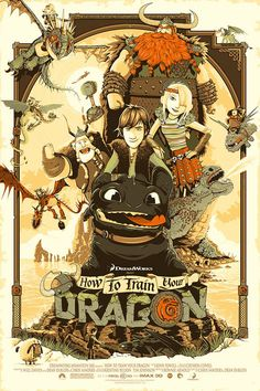 How to Train Your Dragon poster by Patrick Connan